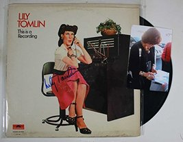"Lily Tomlin Signed Autographed ""This is a Recording"" Comedy Record Album... - $59.39"