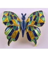 Vintage butterfly brooch pin made in Germany en... - $18.00
