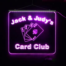 Personalized LED Card Game LED Sign, Man Cave, ... - $155.00