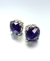 NEW Designer Style PETITE Silver Gold Balinese Sapphire Blue CZ Crystal ... - $19.99