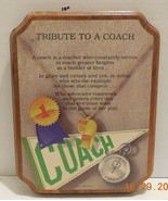 """Gift Plaque for a coach """"tribute to a coach"""" - $23.38"""