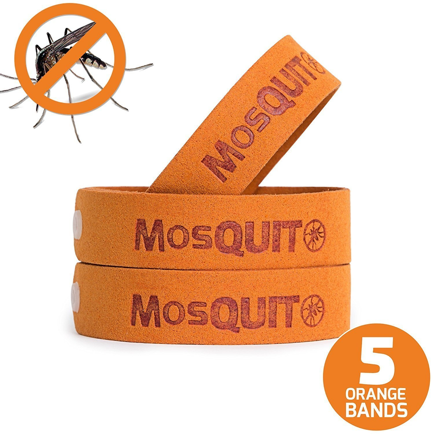MosQuitO Repellent Bracelets 5 Pack - All Natural Ingredients Insect Repellent -
