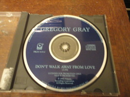 CD Gregory Gray 'Don't Walk Away From Love' rare 1trk promo single Atco ... - $3.99