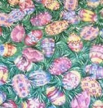 Longaberger Small Purse Over the Edge Liner in Easter Egg Fabric - $9.95