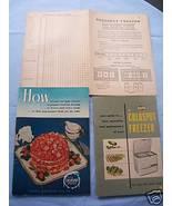 '52 Sears Coldspot Freezer Manual-Food Inventory Record - $5.99