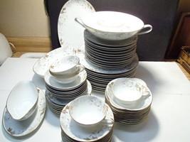 "66 PIECE SET VINTAGE NORITAKE ""DORIAN"" DINNER CHINA~~RARE SET~~1950'S - $259.99"