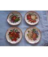 """4 Fruit Plates w/Gold Edges -6 1/4"""" dia - Japan... - $8.99"""