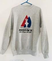 VINTAGE 1992 San Diego California America's Cup Sweatshirt USA Sailing S... - $42.72
