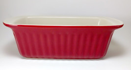 """Good Cook 9"""" x 5"""" Red & Beige Stoneware Loaf Pan - $242,25 MXN"""