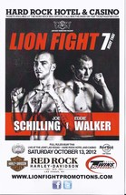 LION FIGHT 7 - MUAY THAI Joe Schilling vs Eddie Walker Promo Card, 2012 - $7.95
