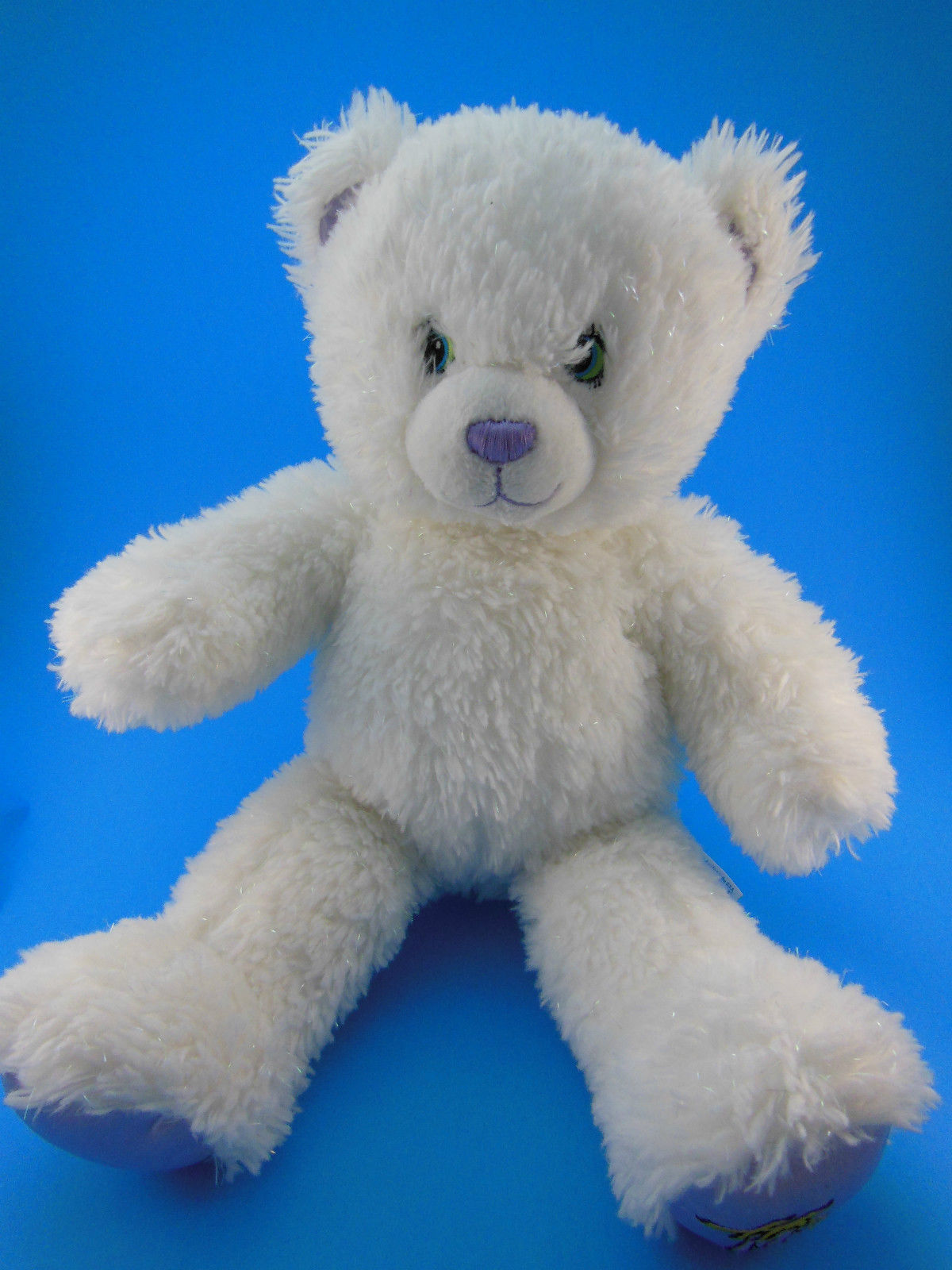 "Primary image for Build a Bear Hannah Montana Teddy Bear 16"" White & Irridescent  Sparkles"