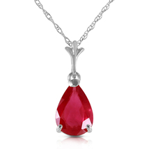 1.75 Carat 14k Solid White Gold House Of Flesh Ruby Necklace - $194.96+