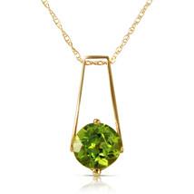 1.45 Carat 14k Solid Yellow Gold London Nights Peridot Necklace - $184.77 - $223.76