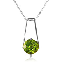 1.45 Carat 14k Solid White Gold London Nights Peridot Necklace - $184.77 - $223.76
