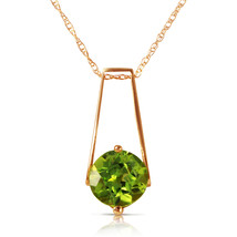 1.45 Carat 14k Solid Rose Gold London Nights Peridot Necklace - $184.77 - $223.76
