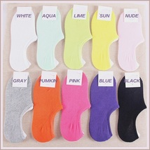 Spring Comfortable Breathable Invisible Low Ankle 5 Piece Bamboo Foot Sock Sets