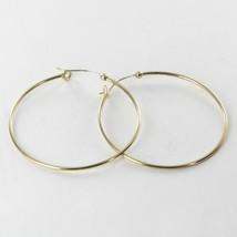 Alex & Ani Large Perfect Hoop Earrings 14k Yell... - $98.93