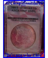 1880-S $1 Morgan Cartwheel Silver $ Certified MS67 DMPL by ANGS - $725.00