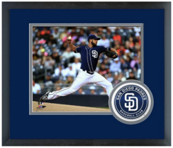 James Shields 2015 San Diego Padres - 11 x 14 Team Logo Matted/Framed Photo - $43.55