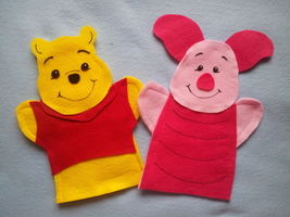 Winnie the Pooh and Piglet Puppets - $12.99