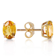 1.8 Ct 14k Solid Yellow Gold A Bee Or Two Citrine Earrings - $124.19
