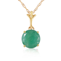 1.65 Carat 14k Solid Yellow Gold You Are Enchanting Emerald Neckalce - $254.20+