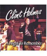 CLINT HOLMES A NIGHT TO REMEMBER Signed Insert - $12.95