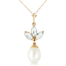 4.75 Carat 14k Solid Yellow Gold Necklace Pearl Green Amethyst - $186.27 - $225.26