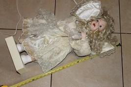 Gabrielle 1993 vintage christmas motorized porcelain face / hands doll-w... - $116.25