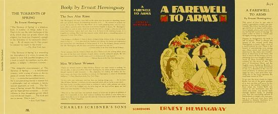 Ernest Hemingway A FAREWELL TO ARMS facsimile dust jacket for the first American