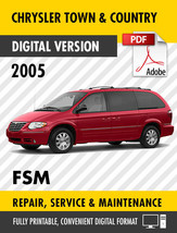 2005 Chrysler Town & Country Factory Service Manual Oem - $15.00