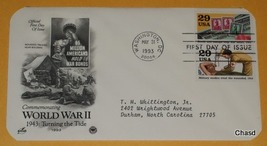 First Day Cover- World War 2 Military Medics and War Bonds - $5.00