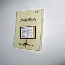 Dollhouse Bible French Lord's Prayer 4919F Jacquelines Cross Bookmark Mi... - $5.60