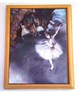 """Ballerina Tile Plaque Framed Handmade 9"""" x 7"""" - $9.42"""