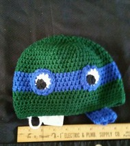 Crocheted teenage mutant turtle beanie hat chil... - $12.00