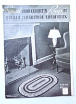 "Vintage Crochet Patterns ""Smart Hand Crocheted Rugs""  1937 #5447-6 - $4.19"