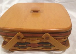Longaberger 1997 Bountiful Harvest Basket w/ Lid, Product Card - $29.35
