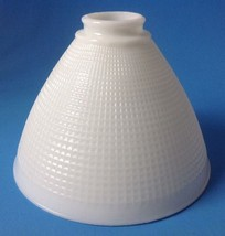 Vintage Torchiere Diffuser Lamp Shade Waffle Pattern White Milk Glass Co... - $39.55