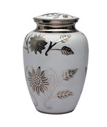 Big White Color Hastings Adult Memorail Urn for Human Ashes, Large Urns ... - $200.00