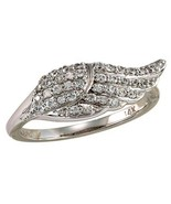 .40 CT Genuine Diamond Angel Wing Ring 14kt White Gold Sizes 4-9 - $499.00