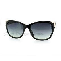 Womens Square Sunglasses Metal Top Corners Chic Trendy Designer Fashion - $7.95