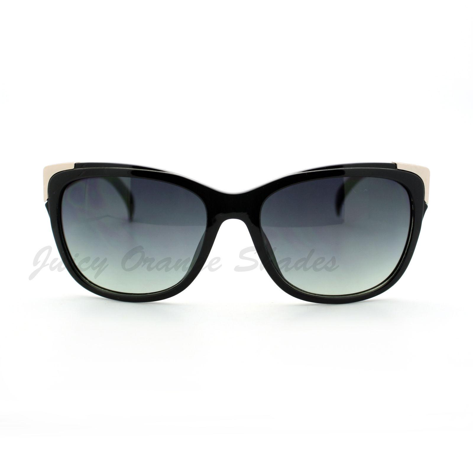 Womens Square Sunglasses Metal Top Corners Chic Trendy Designer Fashion