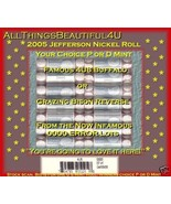 2005 US Mint 4U8 Westward Journey Grazing Bison Nickel Rolls! - $4.00