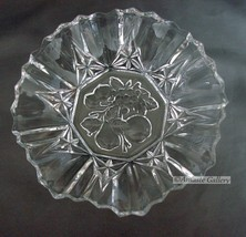 Crystal Crimped Bowl-Fruit Center -Pioneer by Federal Glass ca. 1940