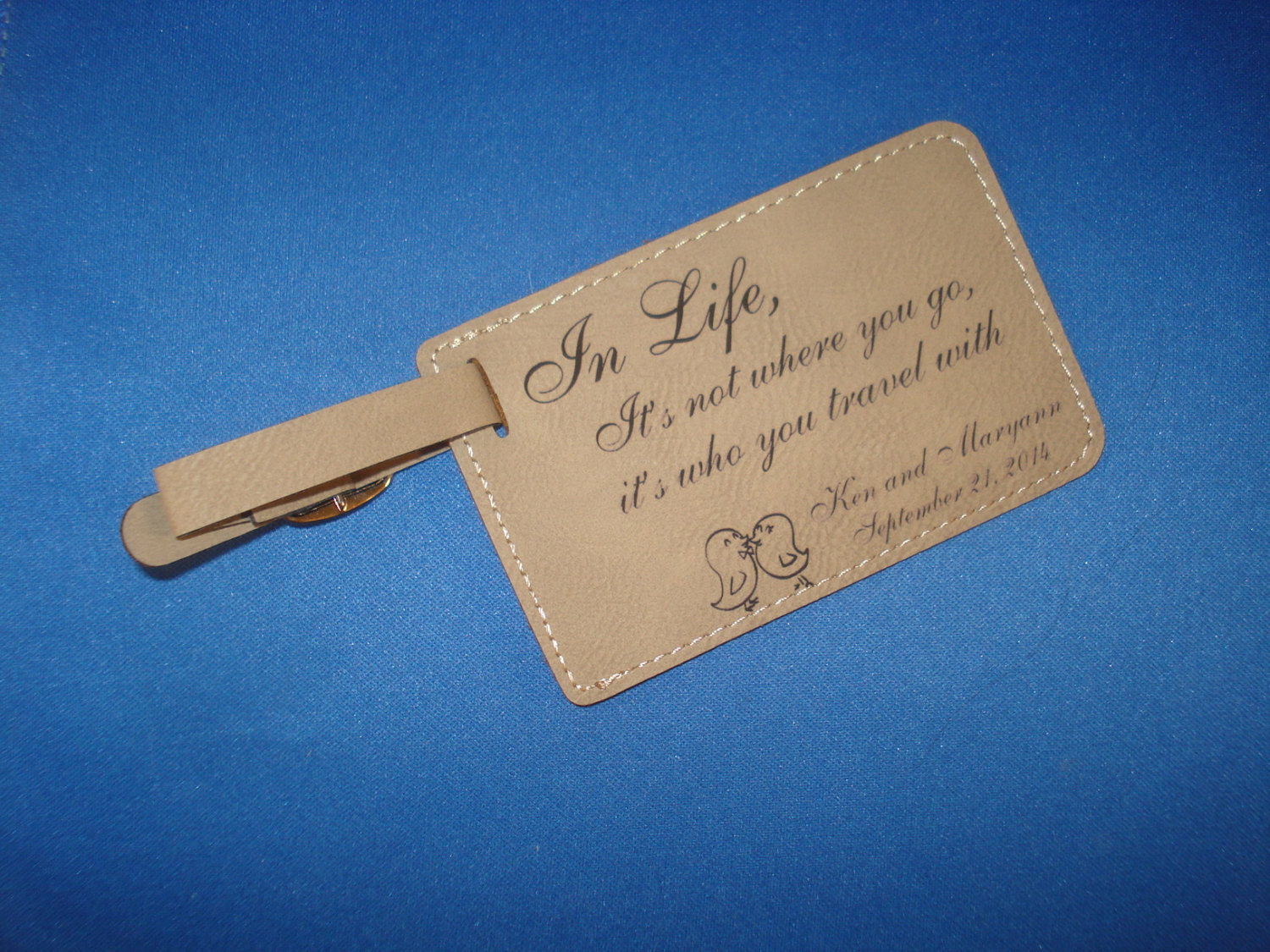Personalized Luggage Tags Wedding Favors Canada : 100 Custom WEDDING FAVORSLeatherette Luggage Tags personalized with ...