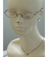 NEW Coach AMANDA 203 Rose Optical Eyeglass Frames RX Ready 50mm W/Case - $56.50