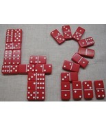 42 dominoes new Red Double 6 Dominos Thick Tile... - $24.95