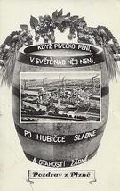 1930's Pozdrav z Plzne - Czechoslovakia beer advertising - $7.87