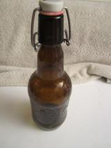 Vintage Grolsch Beer Bottle Porcelain Bale Top Brown Amber Glass - $8.90