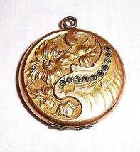 W. & S. Blackinton gold and sapphire round photo locket - $138.55